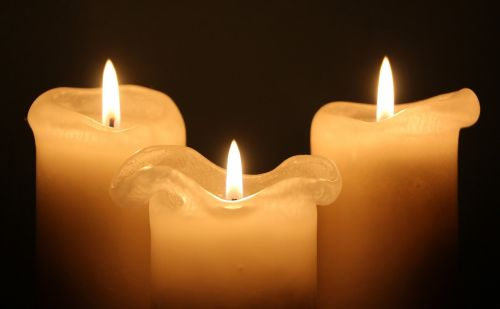 candles light flame