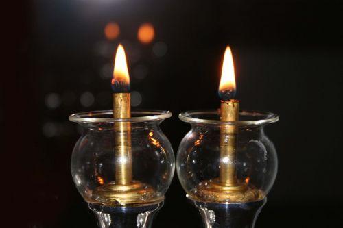 candles light gloomy