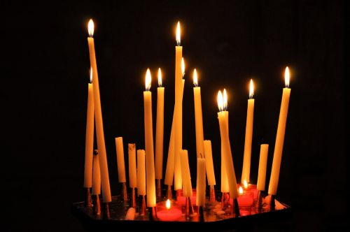 candles prayers religious monuments
