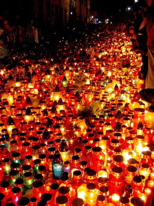 candles kraków pope john paul ii