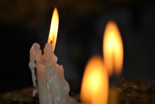 candles sorrow fire