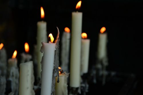 candles church funeral