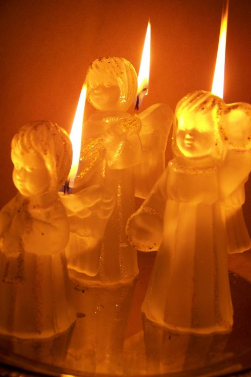 candles angel candlestick