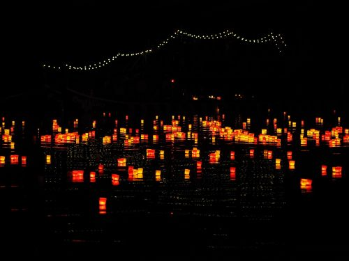 candles lights serenade river