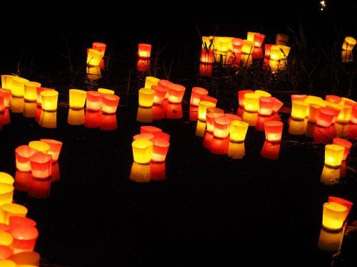 candles lights serenade river