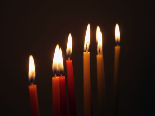 candles hanukkah jews