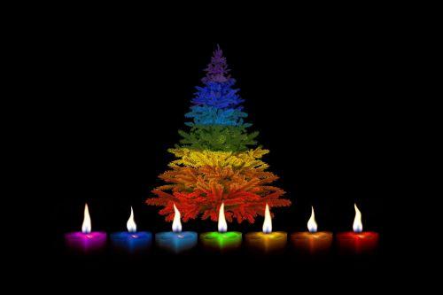candles christmas colorful
