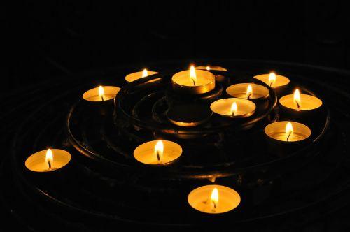 candles church tealights