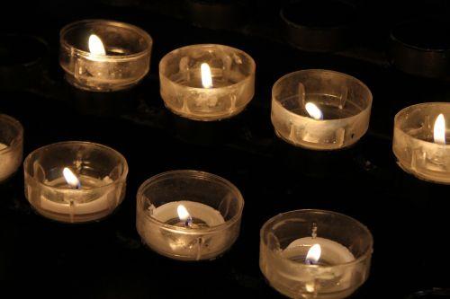candles prayer church