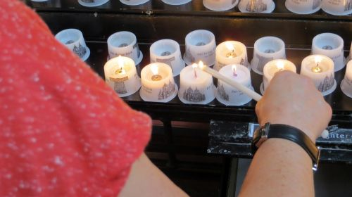 candles church commemorate
