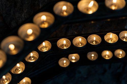 candles flame church