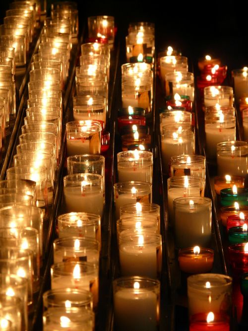 candles memorial lights flame