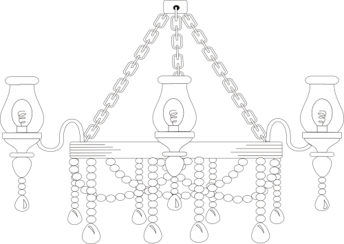 candlestick ceiling lamp silhouette