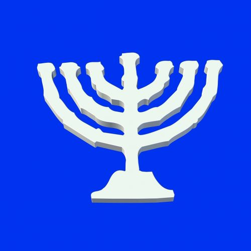 candlestick yarmulke menorah