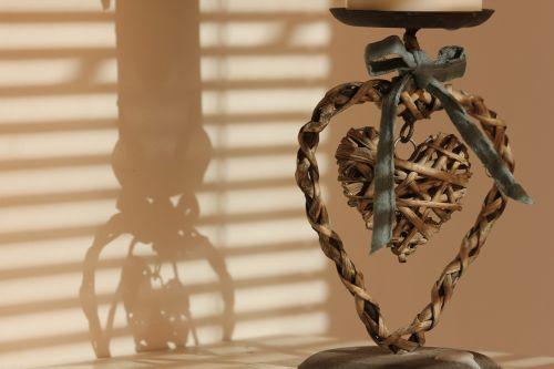 candlestick shadow heart