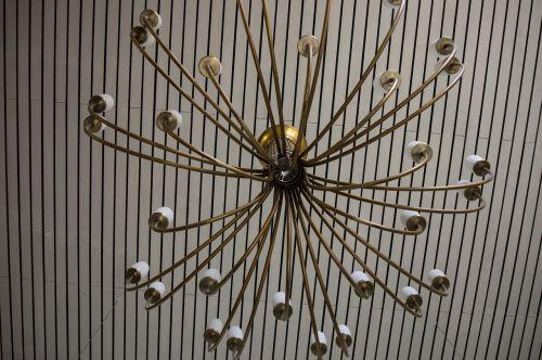 candlestick chandelier brass