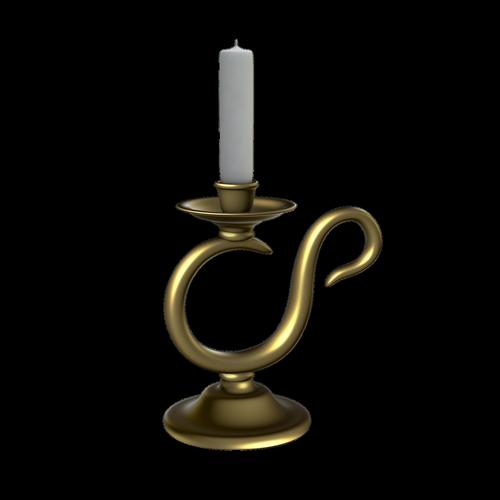 candlestick  candle  golden candlestick