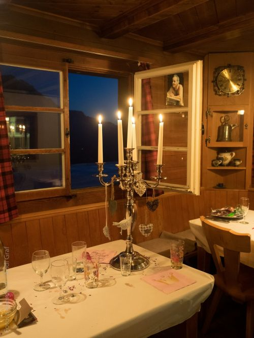 candlestick candle holders hut evening
