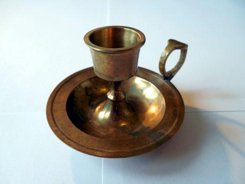 candlestick brass metal