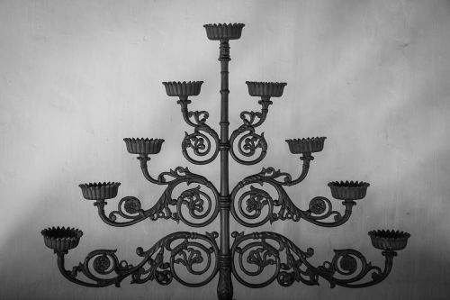candlestick black and white candle holders