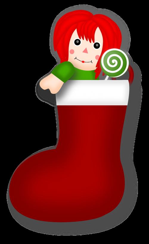 candy christmas rag doll