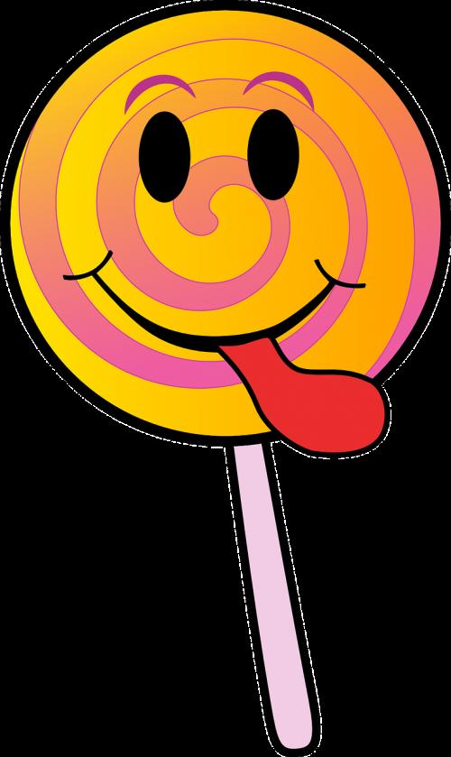 candy lollipop smiley