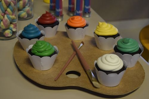candy party cupcake