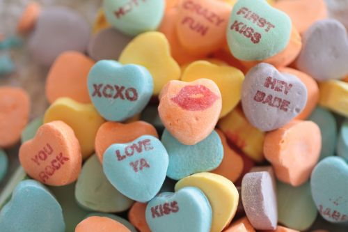 candy hearts conversation