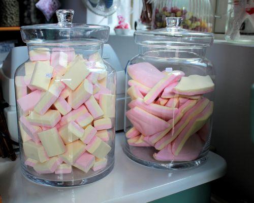candy sweet shop glass jars