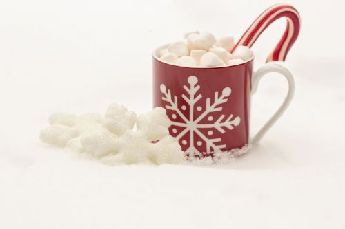 candy cane hot chocolate cocoa