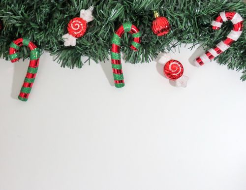 candy cane wreath holiday