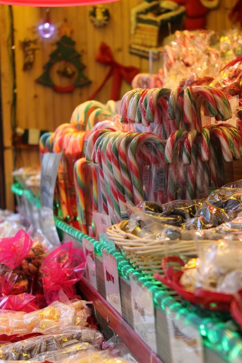 candy canes year market bude