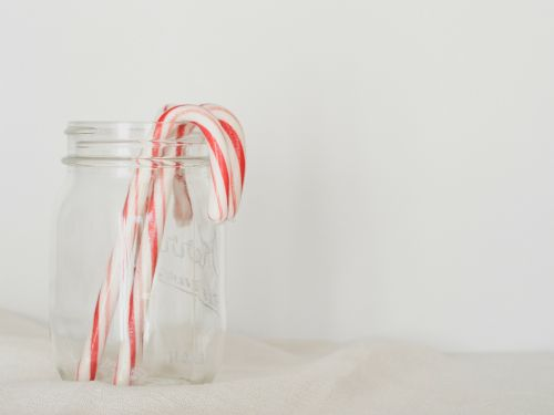 candy canes simple red