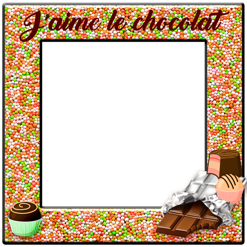 candy frame  chocolate  french