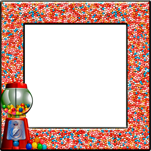 candy frame  gumball  gum