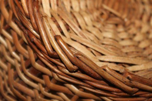 cane bamboo basket