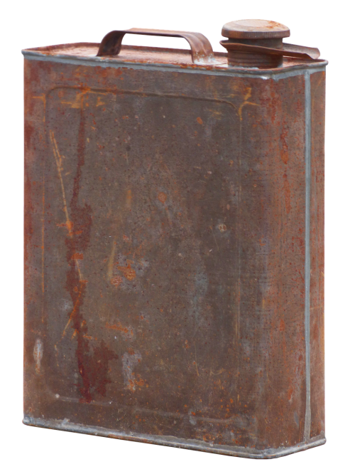 canister rusty stainless
