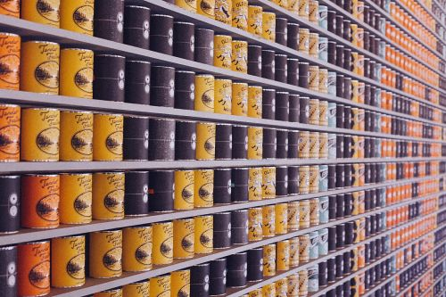 canned food cans supermarket