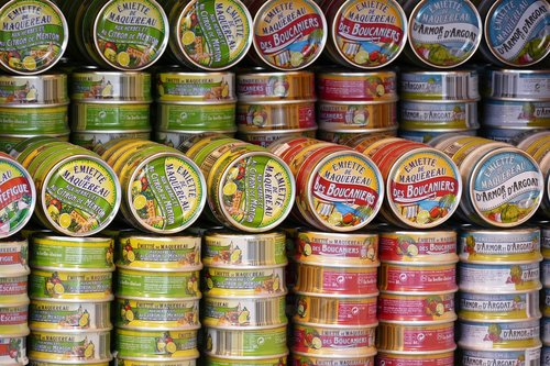 canning  cans  finished products