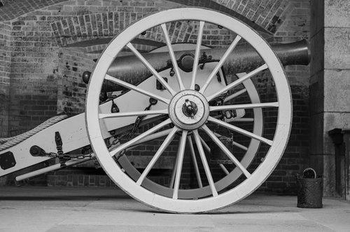 cannon  american civil war  wheel