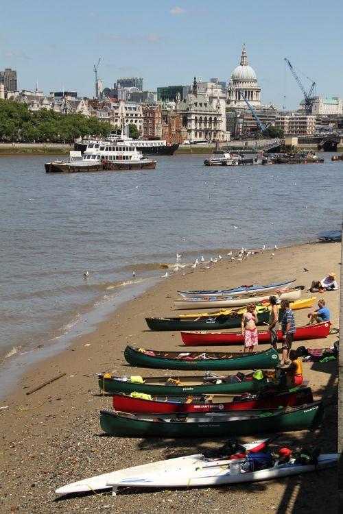 kanoją,Londonas,thames,upė,lauke,rekreacinė,Irklavimas