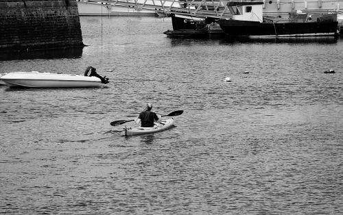 canoe oar water