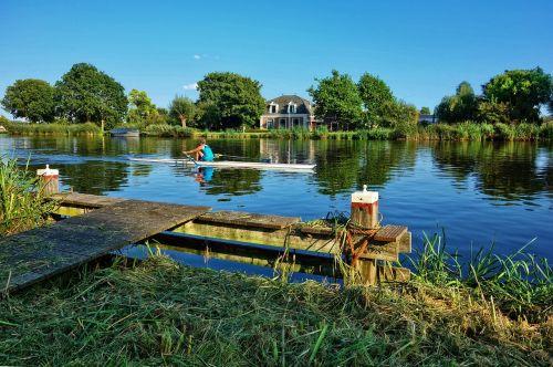 canoe rower river