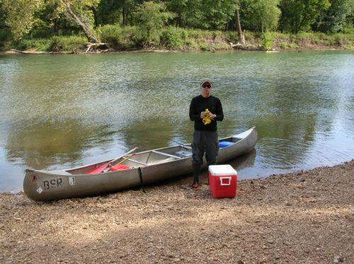 Canoe Angler And Gear