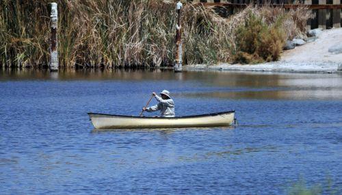 Canoe In Salton Sea
