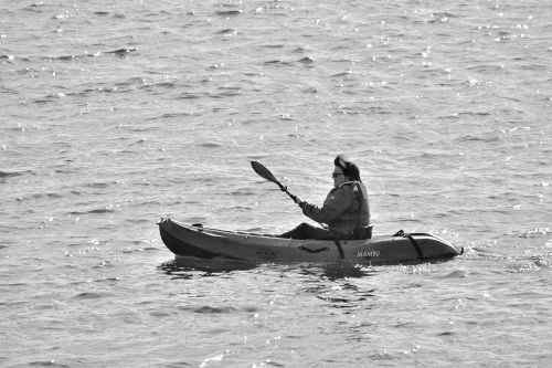 Canoe Kayak At Sea