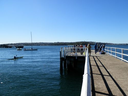 Canoe Next To A Pier