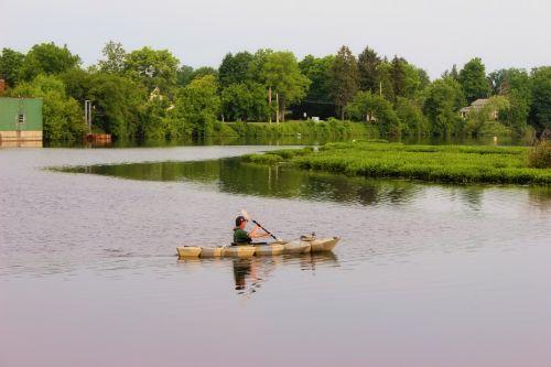 Canoe On Open Water