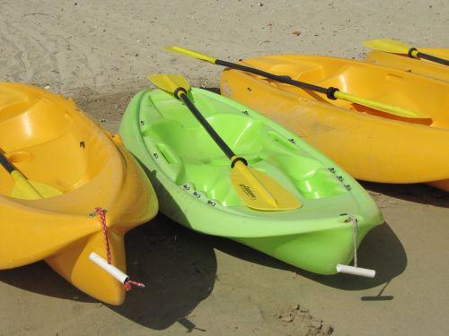 canoeing sea beach