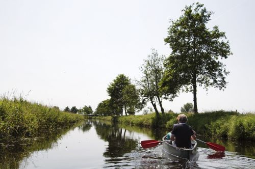 canoeing paddle channel